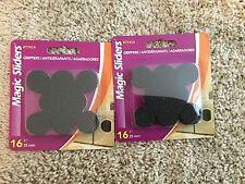 Magic Sliders Round Self Stick Gripper Pads 1 Inch Pack of 16 #77414 (2 Packs)