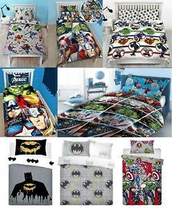Marvel Avengers Duvet Cover Set - Thor Captain America Batman Kids Bedding Linen