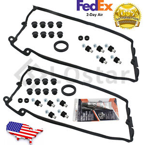 New Valve Cover Gasket Left + Right For 2002-2010 BMW 745i X5 645Ci 545i 550i