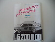 advertising Pubblicità 1987 SKODA 1300