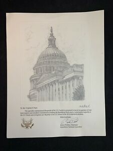 2014 Republican Party Specially Commissioned Lithograph of the U.S. Capitol