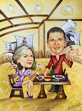 Custom Caricatures from Photos, Cartoon Portrait Illustrations, Facebook Profile
