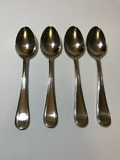 Godinger Palladium Set of 4 Soup Spoons 18/10 Stainless Flatware Dinnerware
