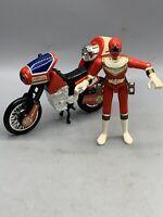 Bandai 1996 Power Rangers Zeo Red Ranger V Zeo Jet Cycle V Action figure