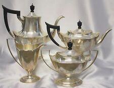 Set 4 Plymouth Gorham Sterling Silver Tea Set Coffee Sugar Creamer Pot 2411