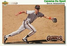 290 DAVE ANDERSON SAN FRANCISCO GIANTS BASEBALL CARD UPPER DECK 1992