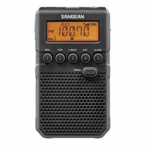 Sangean DT-800BK AM / FM / NOAA Weather Alert Rechargeable Pocket Radio