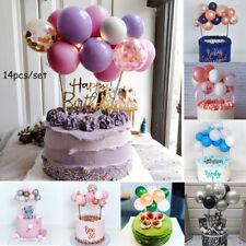 14pcs Set  Balloon Cake Topper Dessert Birthday Baby Shower Decor Decoration