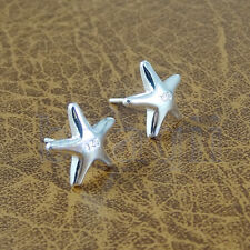 1paire 925 argent PLAQUéES Fantaisie Boucle d'oreille étoile de mer pour femmes