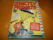 Strictly Private #1 1941 Eastern Color Digest B&W Army Jokes SCARCE VG-