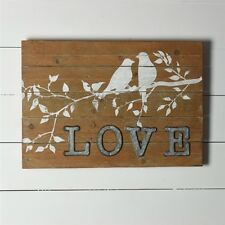 Rustic Love Birds on Branch Sign