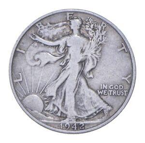 Better 1942-D - US Walking Liberty 90% Silver Half Dollar Coin Set Break *752
