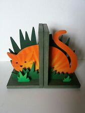 Wooden bookends - Cat