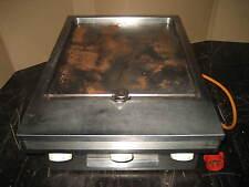 MKN Edelstahl Gastro Grill Grillplatte Imbissgrill 2 Bräter Zonen 380 V 9 KW