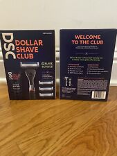 Dollar Shave Club 6 Blade Razor Bundle with Shave Butter, 1 Handle, 4 Cartridges