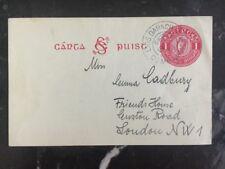 1938 Newbliss Ireland Postcard Cover To Loundoun Scotland