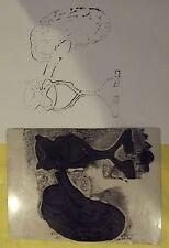 Ancien Tampon Scolaire Anatomie Organes  14 x 19cm