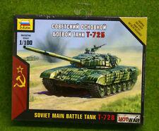 Tanque de batalla principal Soviética Zvezda T72B guerra caliente 1/100 escala 7400