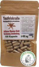 100 Kapseln 400mg Teufelskralle. Harpagophytum procumbens. Bewegungsapparat.