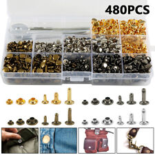480Pcs/box Double Cap Rivets Metal Fixing Stud Repair Tools Kit for Leather Belt