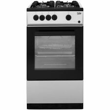 Beko KSG580S Free Standing Gas Cooker with Gas Hob 50cm Silver New