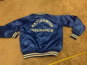 Vintage Nationwide Insurance Blue Satin Button Jacket Men's Medium ? BB2