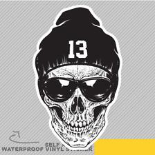 Skull Wearing A Hat NO 13 Bad Boy Vinyl Sticker Decal Window Car Van Bike 2101