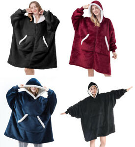 Oversized Warm Winter Pullover Hoodie Women Giant Soft Sherpa Blanket Sweatshirt