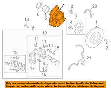 HYUNDAI OEM Elantra Front Brake-Backing Plate Dust Splash Shield 51756A5000
