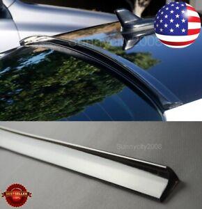 "47"" Semi Gloss Black Rear Flexy Window Roof Trunk Spoiler Lip For Honda Acura"