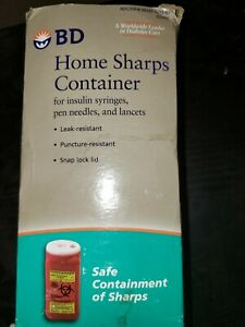 BD Home Sharps Container FOR INSULIN SYRINGES, PEN NEEDLES, AND LANCETS