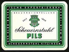 ALT Bieretikett Bayer. Exportbierbrauerei Heyd u. Scheuernstuhl † 1981 Kitzingen