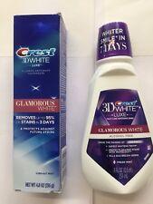 Crest 3D Bianco Brilliance Dentifricio 136G & Sbiancante Collutorio 237ml NUOVO