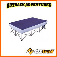 OZTRAIL ANYWHERE BED QUEEN - BLUE CAMP BEDDING