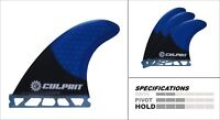 Carbon Fiber Honeycomb  Hybrid Futures Style Surfboard Fin - Blue Black - C4