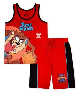 Space Jam A New Legacy Tune Squad Boys Tank Top Shorts Set Size 4-20 T-Shirt NWT