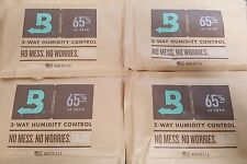 (4) Boveda 65% Packs 2-Way Humidor Control Large 60 gram Sealed Packets