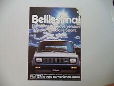 advertising Pubblicità 1981 FIAT 127 SUPER