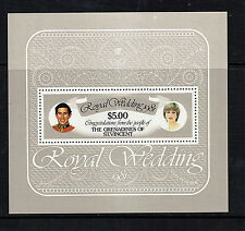 St VINCENT GRENADINES 1981 ROYAL WEDDING $5 SOUVENIR SHEET MNH