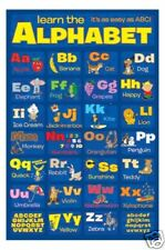 KNOW YOUR ALPHABET =POSTER= child learn ABC english NEW