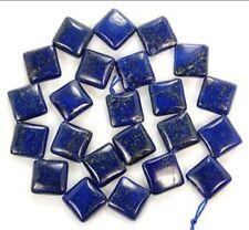 "Natural 12mm Egyptian Lapis Lazuli Square Gems Loose Beads 15"""