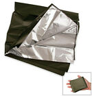 New Rothco Olive Drab/Silver Lightweight Combat Casualty Survival Blanket 52X84