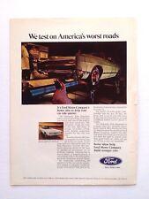 Vintage 1969 Ford LTD Original Print Ad Automobile Car