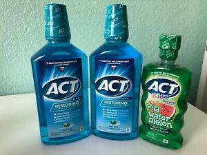 ACT Restoring Anti-Cavity Fluoride Mouthwash Cool Mint