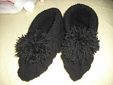 Ladies hand knitted booties/slippers,size 8.