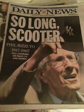 New York Daily News August 15, 2007 So Long Scooter Phil Rizzuto 1917-2007