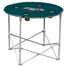 Philadelphia Eagles Round Tailgate Table [NEW] NFL Portable Chair Fold Party