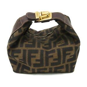 Fendi Accessories Pouch Bag  Black Nylon 1606596