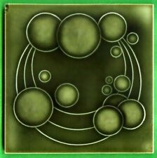 Jugendstil Fliese Kachel, Art Nouveau Tile, Tegel, NSTG, Planet Kreis / Circle