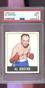1948 Leaf #65 Al Hostak NM+ PSA 7.5 Graded Boxing Card